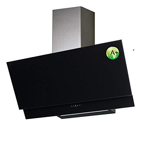 VLANO VALIO 900 XGBK Dunstabzugshaube 90cm kopffrei schwarz Glas 6 Leistungsstufen mit Nachlaufautomatik LED-Beleuchtung 44 dB(A) bis 900 m³/h