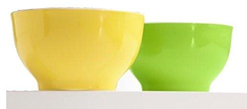 Tchibo 2 Müslischalen Grün/Gelb aus Porzellan Müslischale Set