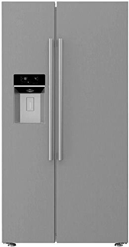 Blomberg BSBS2230SS 36' Counter Depth Side-by-Side Refrigerator with 22 cu. ft. Capacity Blue Light...