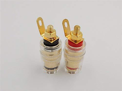 4 Stks Messing Crystal 4mm Draad Medium Versterker Luidspreker Spade Terminal Binding Post Banaan Plug Socket Connector 32 MM