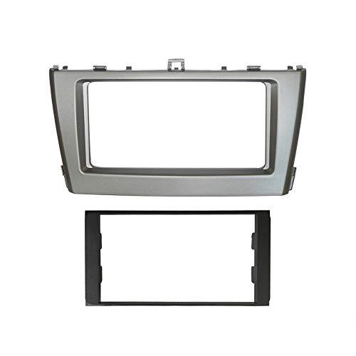 HIGHER MEN Car Accessories Parts Doble DIN estéreo Panel for Toyota Avensis 2011+ Fascia Radio DVD de la rociada Instalación del Montaje Kit de Acabado de la Cara del Bisel Facia
