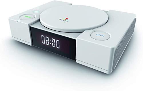 Bigben Interactive PS1AC Wecker (Digitalwecker, Rechteck, Weiß, 105 mm, 38 mm, 149 mm)