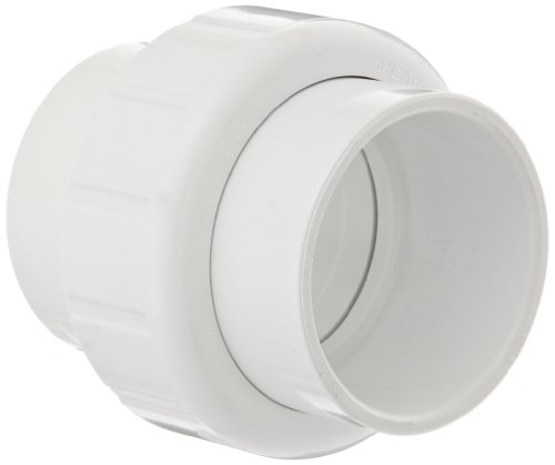 Spears 497 Series PVC Pipe Fitting, Union with EPDM O-Ring, Schedule 40, 1' Socket
