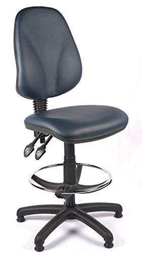 Stella Fella Relax Oficina respaldo alto dibujante silla del balanceo con soporte lumbar, Presidente de recepción cómodo, Laboratorio de oficinas alto Sillón, Silla de ordenador, Conferencia (Negro Vi