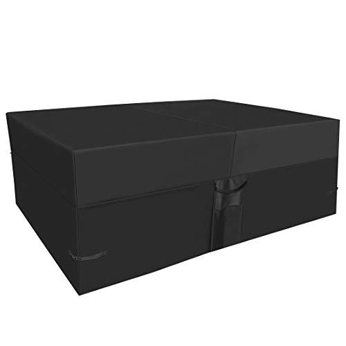 Fitprobo Funda protectora impermeable para muebles de jardín, protección contra rayos UV, para mesas de jardín, protección contra la lluvia y el polvo, tejido Oxford 600D, 242 x 162 x 100 cm