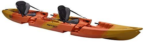 Point65 Tequila GTX Tandem Sit on Top Kajak Kanu Zweierkajak Modulkajak, Ausstattung:Mit Airsitz, Farbe:Gelb-Orange-Marmoriert