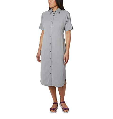 Columbia Women's Firewood Crossing Shirt Dress, Black Chambray, Large