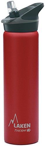 Laken Jannu Botella de Agua Térmica con Aislamiento de Vacío con Doble Pared de Acero Inoxidable 18/8. Hasta 24 Horas de Frío, Rojo, 750 ml