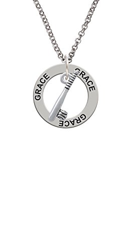 Cheer Bunny Bat and Ball - Grace Affirmation Ring Necklace