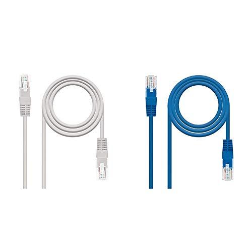 NanoCable 10.20.0403 Cable de red Ethernet RJ45 Cat.6 UTP AWG24, 100% cobre,...