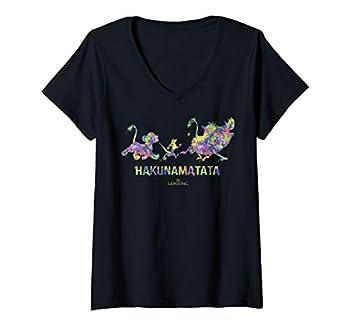 Womens Disney The Lion King Splatter Silhouette V-Neck T-Shirt