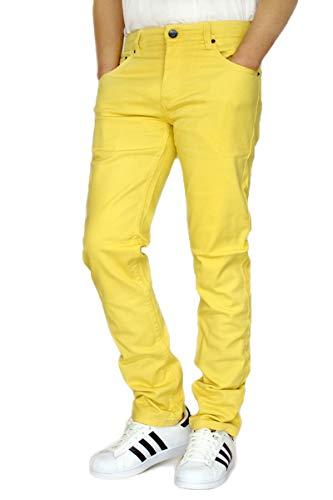 Victorious URBANJ Men's Twill Stretch Skinny Jeans (38X32, Yellow)