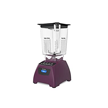 Blendtec Classic 575 Blender with Wildside+ Jar (96 oz) and FourSide Jar (64 oz) BUNDLE, Commercial-Grade Power, Self-Cleaning, 4 Pre-programmed Cycles, 5-Speeds, Orchid Purple