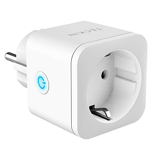 Presa Intelligente WiFi Smart Plug 16A 3300W TECKIN Presa Smart Compatibile con Alexa Echo Google Home IFTTT, Controllo Remoto Funzione di Temporizzazione Mini Presa Wireless per iOS Android App