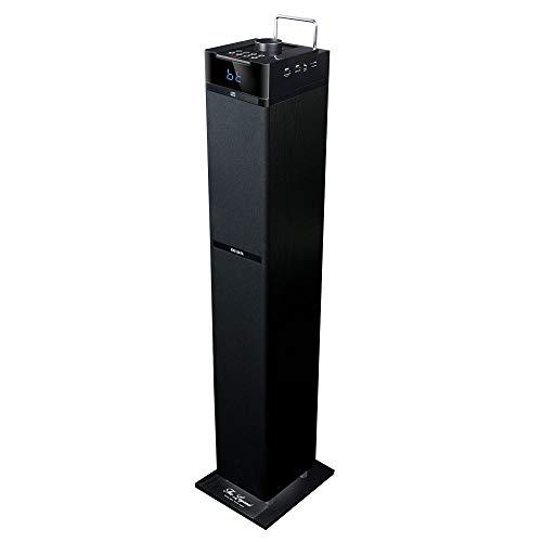 Aiwa TS-990CD: Torre de Sonido con CD, Bluetooth, USB, SD y Radio FM, Tamaño Grande, 110 W, Negro