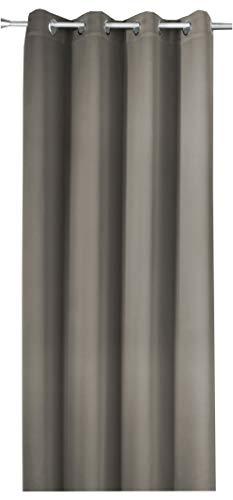 NOVUM fix Gardine Verdunkelungsvorhang mit OESEN *Thermoeffekt *MASSANFERTIGUNG bis 350cm Länge * GRAU