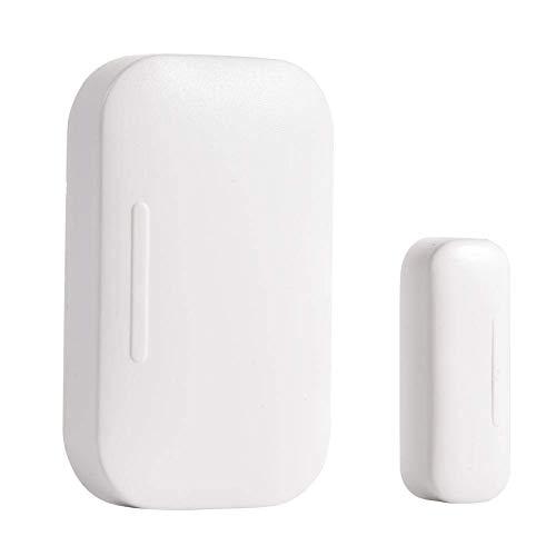 Iwinna Sensor de puerta de ventana inteligente ZigBee, alerta de entrada de ventana de seguridad inalámbrica, sensor multiusos, control remoto de teléfono móvil alarma para el hogar