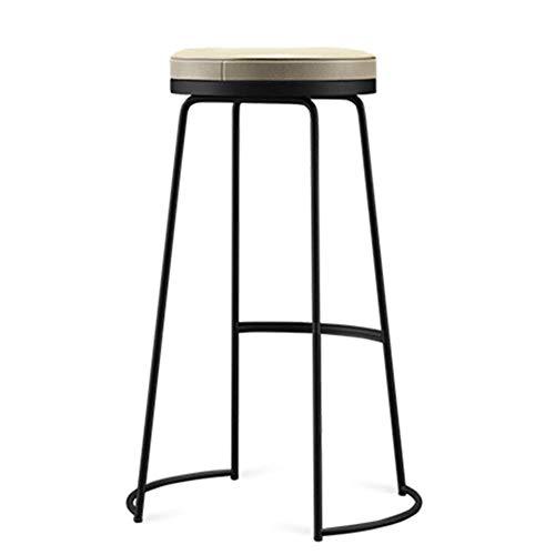 XLEVE Sencillo Taburete largas mesas y sillas de Hierro Forjado Mesa Alta y sillas Nueva Tienda de té Tienda de Red Rojo (Size : 65CM)