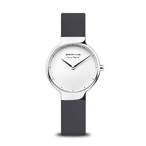 Preisvergleich Produktbild BERING Damen Analog Quarz Max René Collection Armbanduhr mit Silikon Armband und Saphirglas 15531-400
