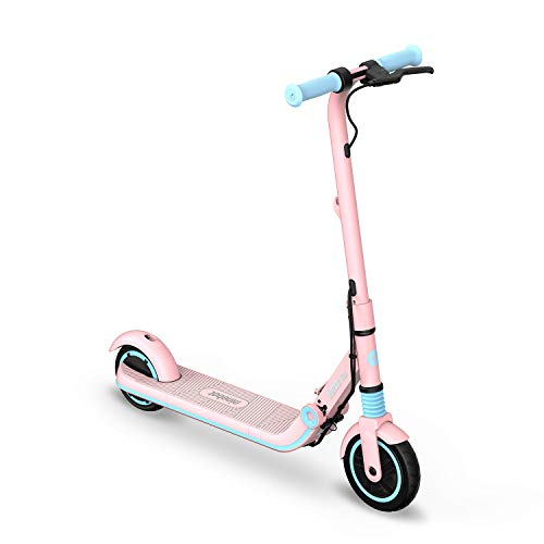 Segway Ninebot eKickScooter ZING E8 Kids Electric Kick Scooter for Boys and Girls, Lightweight and Foldable, New Cruise Mode, Pink, Medium