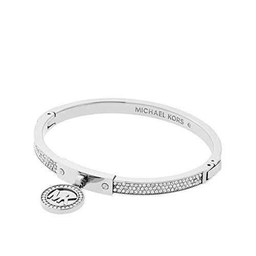 Michael Kors Silver Tone Fulton Hinge Bangle Bracelet