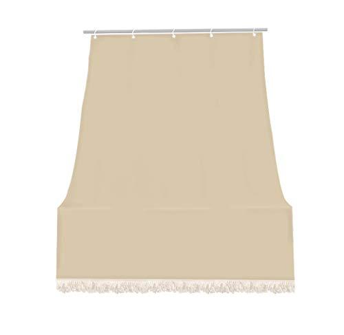 IlGruppone Tenda Da Sole Tessuto Resistente Per Balcone Con Anelli Lavabile A Caduta - Beige - 140X250 Cm