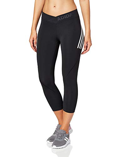 adidas Damen Tights Ask TEC 34T 3S, Black/White, S, DX7572