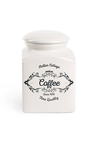 Excelsa Kaffee Vorratsdose, Keramik, Weiß