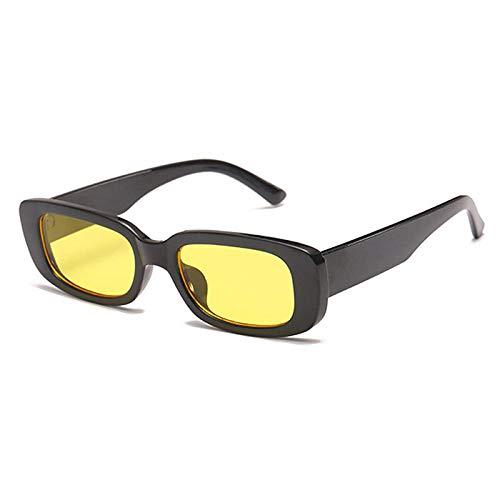 Sonnenbrille Klassische Quadratische Sonnenbrille Für Frauen Retro Fashion Sonnenbrille Protect Rectangle Frame Eyewear-C2_Yellow