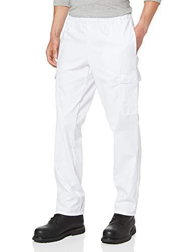 BP 1646-400-21-Ls Unisex-Hose, mit Gummizug in der Taille, 215,00 g/m² Stoffmischung, weiß, Ls