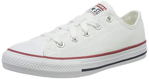 Boys White Canvas Tennis Shoes