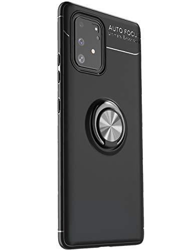S10 Lite Hülle Kompatibel mit Samsung Galaxy S10 Lite Schutzhülle 2 in 1 Magnetische Car Mount Handyhülle 360 Grad Ring Kickstand Tasten Case Handytasche SchaleHülle Für Samsung S10 Lite