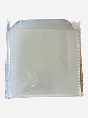 Conjunto de 100 fundas para CD de calidad para CD con solapa de la marca DragonTrading®