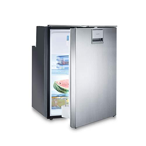 DOMETIC Coolmatic CRX 80 S Kompressor-Kühlschrank, 78 Liter, 12/24 Volt für Wohnwagen, Caravan + Boot mit Edelstahl-Front