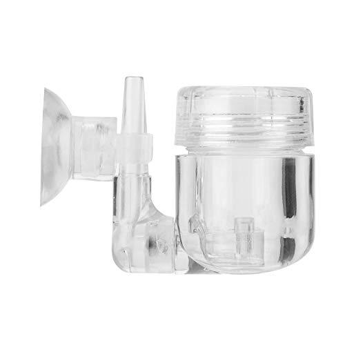 CO2 Difusor, DIY 4 en 1 de Dióxido de Carbono difusor co2 Generador atomizador con ventosas Depósito para el sistema de co2 Válvula Bubble cristal Acuario Depósito Planta (atomizador de Co2)