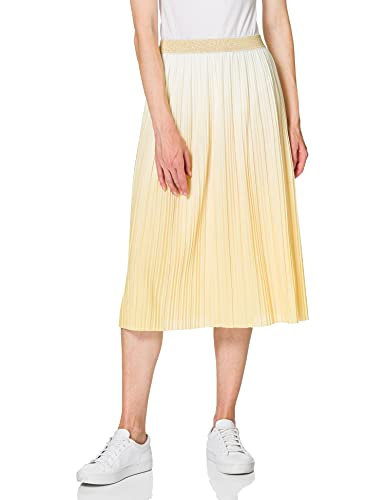 ONLY Damen ONLDIPPY Skirt KNT Rock, Cloud Dancer/Detail:W. Sunshine DIP DYE, M