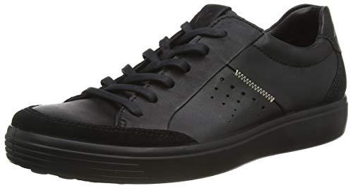 Ecco Herren Soft 7 Men's Sneaker, Schwarz (Black 51052), 47 EU