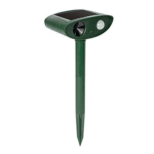 Redeo Solar Outdoor Cat Repellent Ultrasonic Animal Repeller Deer Deterrent Dog Repellent for Lawn&Garden Yard with Motion Sensor - Scare Birds Away (Green)