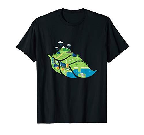 erneuerbare Energie Zukunft Solar Wind saubere Luft, Wasser T-Shirt