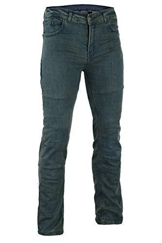 Bikers Gear Australia Limited Damen Stretch gefüttert mit Kevlar Motorrad Jeans Schutzhülle mit abnehmbarem Armour, Vintage Denim, Größe 18