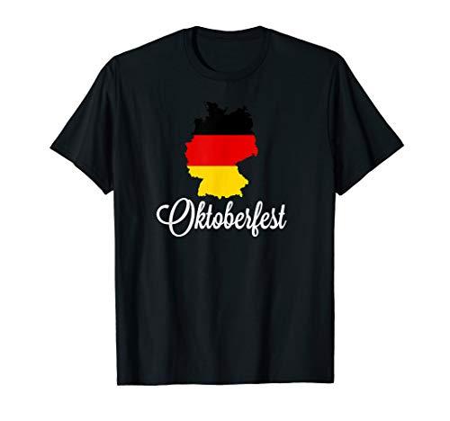 Deutsches Oktoberfest Deutschland Karte Bier Trinken T-Shirt