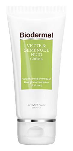Biodermal Dagcreme Vette & Gemengde Huid -  Helpt glimmen voorkomen - 50 ml