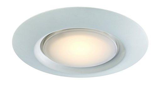 "Trans Globe Imports LED-30021-1 WH Vanowen Indoor White Contemporary Flushmount, 7.5"""