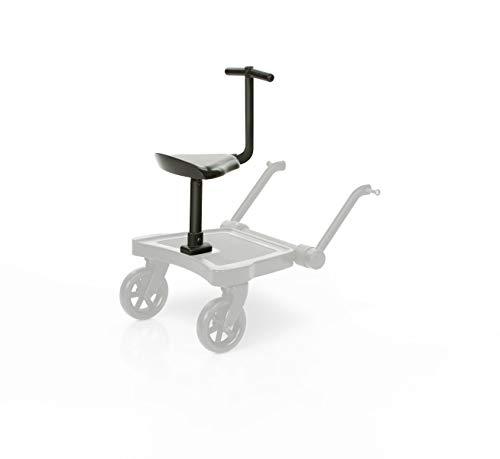 Set ABC Design Trittbrett Kiddie Ride On 2 mit Stoffwindel von Kinderhaus Blaubär | Mitfahrbrett universal passend | Rollbrett für Kinderwagen Buggy bis 20 kg, Größe:Sitz
