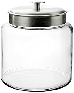 Anchor Hocking Montana Glass Jar with Fresh Sealed Lid, Brushed Metal Lid, 1.5 Gallon - 95506