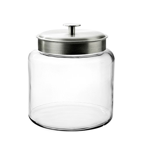Montana Jar with Brushed Metal Lid, 1.5 Gallon