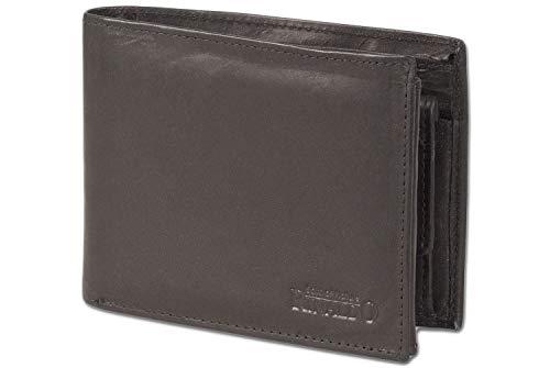 Rinaldo - Portafoglio bullone con extra-large portamonete XXL Super moneta fatta di liscio, di pelle trattata con nero