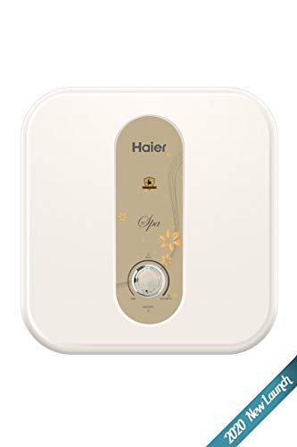 Haier (ES15V-EC-S1) Electric Storage 15 Litre Vertical Shock Proof, ABS Body, Anti Corrosion UMC Tank, (White),BPS Technology, Super Fast Heating Water Heater, Warranty-7 Years