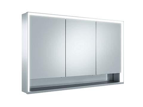 Keuco Royal Lumos spiegelkast 14305, 3 draaideuren, wandmontage, 1200mm - 14305171301