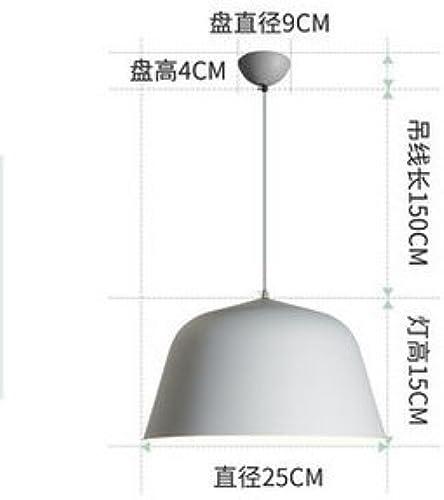 LuckyLibre Pendentif Couleur Simple moderne chambre à coucher Cuisine Restaurant Bar Cafe d'éclairage Lampe de couloir lustre,petit gris